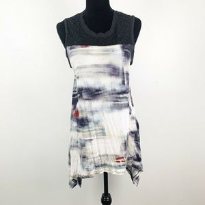 Simply Vera Wang Watercolor Netted Lace Tank Top